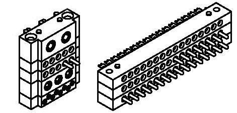 Módulos multicontacto b-smp apilados