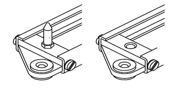 marco para conector rack serie B-SMR